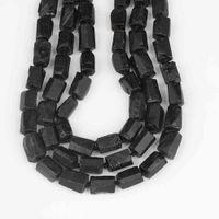 Retângulo preto tourmaline pedra solta jóias jóias nugget amethysts quartzo espaçador grânulos fazendo pulseira diy xt-08amce