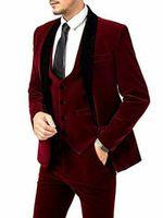 Customize tuxedo One Button Handsome Shawl Lapel Groom Tuxedos Men Suits Wedding Prom Dinner Man Blazer(Jacket+Pants+Tie+Vest) W960