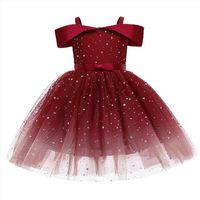 Flower Girls Wedding Kids Girl Dresses For Party Children Princess Christmas Costume 5 6 7 8 9 10 Year