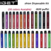 IGET Shion Disposable E-cigarettes Pod Device Kit 600 Puffs 400mAh Battery 2.4ml Prefilled Cartridge Vape Pen Genuine VS Bar Plus XXL