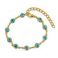 Mode Evil Eye Perlen Armbänder Für Frauen Mädchen Verstellbare Gold Silber Farbe Kette Glückliche Augenarmbänder Trendy Schmuck Geschenk1 538 Q2