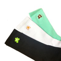 spring of Ten pairs summer golfwang cute floret embroidered cotton medium tube socks for men and women