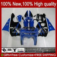 Verklei voor Kawasaki Ninja ZX 6R 636 600CC 600 CC ZX-636 ZX6R 94 95 96 97 Carrosserie 50HC.27 ZX636 ZX-6R 94-97 ZX600C ZX600 ZX 6 R 1994 1995 1996 1997 Bodys Kit Glanzendblauw