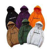 남성용 후드 스웨터 탑스 디자인 - 카 하트 패션 브랜드 클래식 편지 자수 남자와 여성 커플 느슨한 호우