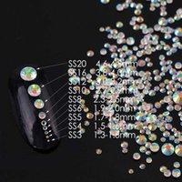 SS3-SS20 TRANSPRENT AB Aproximadamente 1440 PCS 3D Nail Art Vidro Rhinestone Não Hotfix Cola Flatback em Rhinestones para DIY JllzGJ
