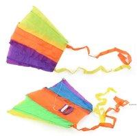 휴대용 접이식 포켓 비행 카이트 키즈 장난감 저장 케이스 야외 스포츠 어린이 선물 여러 가지 빛깔의 단일 작은 연하수 HHA5379