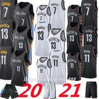 7 kyrie 11 كيفن 72 ايرفينغ biggie durant 13 harden basketablll jersey رجل 2021 ncaa الفانيلة أسود رمادي أزرق أبيض