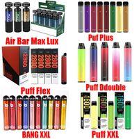 Bang XXL Air BAR Max Lux Puff Flex Pro Switch Double Posh Plus XL Einweggerät Pod Kit 2in1 Batteriepatronen 2000 Puffs Vorgefüllte Vape E-Zigaretten-Kits