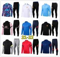 2022 Mens madrid soccer tracksuit 21 22 football training suit jogging 2021 chandal futbol survetement foot