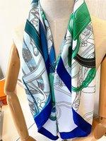 2021 Wysokiej Jakości Dziewczyna Szaliki Piękna Marka Designer Drukuj 90 * 90 cm Karier Szaliki i Szale Wraps Hijab Headscarf Kobieta Neckerchief Winter Tłumik