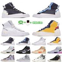 [Bilezik + Çorap + Orijinal Kutu] 2021 Orijinal Blazer Orta Koşu Ayakkabıları Kraliçe 2.0 Grim Reaper Tüm Yadigarları Eve Serena Williams Beyaz Erkek Kadın Açık Spor Sneakers Kapalı