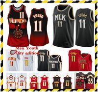 1996-97 Мужская баскетбольная майки для баскетбола Ретро Высокое Качество TRAE 11 Молодые Dikembe 55 Mutombo красный черный белый 2021 дешевые винтажные рубашки