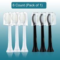 رؤساء استبدال فرشاة الأسنان متوافقة مع Philips Sonicare ProtectiveClean فرشاة الأسنان الكهربائية مقابض 6-Pack Diamond White / Black