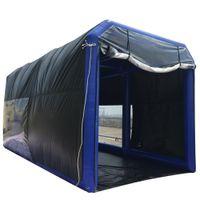 8x3.5x3.5m Pintura hermética da pintura da tenda da tenda inflável da cabine de pintura dos tubos selados dos tubos com filtros para exterior ou interior