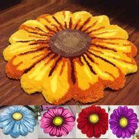 NOUVELLE ARRIVÉE Beau tapis de tapis de tapis doux pour porte pour porte petit tapis chrysanthemum rouge rose jaune bleu violet 210329