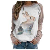 Loose Sudaderas Mujer Sweatshirts Vintage Sweatshirt Casual Print Thermal Crewneck Long Sleeve Pullover Women Women's Hoodies &