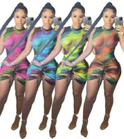 Women dress fashions Designers Clothes 2021 summer rainbow print Jumpsuit dresses casual maxi beach floral bohemian