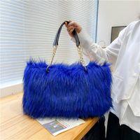 Evening Bags Large Capacity Fake Fur Chain Armpit Women's Shoulder Bag Fashion Designer Handbag Ladies Messenger Casual Tote