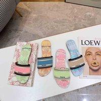 2021 paris mulheres chinelos verão praia slides top qualidade flip flops loafers sexy chinelo bordado com caixa tamanho 35-43
