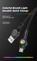 3A Data Cables Fast Charging Mobile 7-Color Light Nylon Braid USB-C Micro Cable Quick Charger With Retail Color Box CB-X8
