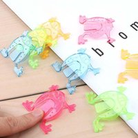 Party Favor 20Pcs lot Jumping Frogs Colorful Funny Baby Toy Birthday Mini Toys Shower Kids Finger Game Favors 4.5Cm