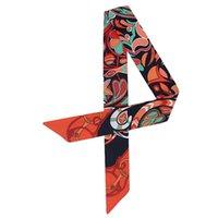 Designer Brand Sciarpa Donne Luxury Twill Twill Shawl Scialle in raso Legato Borsa a nastro Sciarpe strette e lunghe C48 Sciarpe