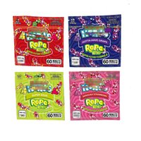 Atacado quadrado medicado corda picadas embalagem sacos 4 tipos vazio doces gummy saco pacote cheiro à prova de baggie 600mg edible gummies embalagens mylar ziplock baggies