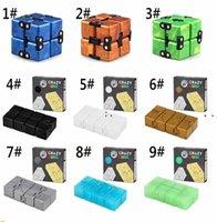 2021 Newest TIKTOK Infinity Magic Cube fidget toys Creative Sky Antistress Office Flip Cubic Puzzle Mini Blocks Decompression Toy NHA6304