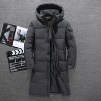 the Winter Men Down jackets Parkas medium-length Down coats zipper thick keep warm North outdoor outerwear hoodies face Jacket male clothing