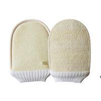 Natural Boofah Beafing Перчатки для купания Кисти Мягкие отшелушивающие Двусторонняя ванна, очищая корпус Очистка Массаж Массаж HWB7226