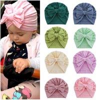 New Baby Headbands Toddler Headwraps Baby Flower Nudo Bow Turban Hats Babes Caps Elástico Accesorios para el cabello Dropshipping 1286 Y2
