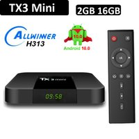 Android 10 OTT TV Box TX3 Mini Allwinner H313 رباعية النواة 1 جرام 8 جرام 2 جيجابايت 16 جيجابايت 4 كيلو ذكي دفق الوسائط مشغل