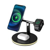 3 In 1 Magnetic Wireless charger Stand 15W Fast Charging Dock Station For Watch Cell Phone Headset