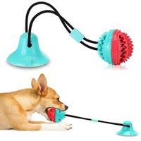 كلب اللعب اللعب السيليكون شفط كأس السحر الكلب لعبة الكلاب دفع الكرة الحيوانات الأليفة تنظيف الأسنان مضغ لعب ل جرو كلب كبير عض