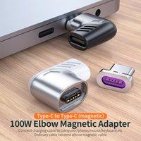 Câbles de câbles magnétiques magnétiques de type USB 100W 5A C TOC de type USB pour PAD Pro Max Remarque Connecteur d'aimant Bent