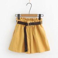 Женские шорты Oioninos 2021 летняя эластичная талия короткие брюки женские оборками высокие карманы гареми