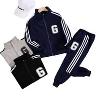 Clothing Sets Kids Children's Spring And Autumn Suit Boys' Coat+pant Fashion Sports Two-piece Set For Big Boys 4-12 Ages
