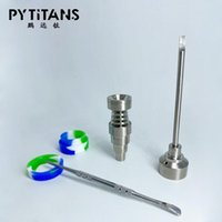 Accessori per fumare Unghie in titanio adatte 10mm 14mm 18mm femmina maschio carboidrato con dabber