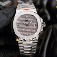40mm 5711 5719/10 5719 orologi sportivi cal.324 orologio da uomo automatico Gypsophila con texture con quadrante con diamanti con texture in acciaio inox Braccialetto Hello_Watch