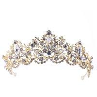 Taç Barok Kristal Uzun Ömürlü Renk Tutma Firma Çevre Koruma Hiçbir Cilt Hasar Gelin Şapkalar Taç Düğün Aksesuarları B