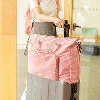 Edition Kleiner reiner und frischer faltbarer Tasche hochwertiger Qualitätsspeicher Tuch Rod Packung Eine Schulter Hand Reise Duffel-Taschen