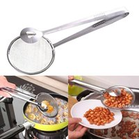 Cuchara de filtro de acero inoxidable Cocina Frying Frying Filtro Cesta con clip Multifuncional Cocina Accesorios Accesorios Herramientas FWE10218