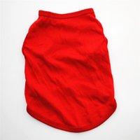 Köpek Giyim Katı Renk Beyaz Siyah Kırmızı Pembe Evcil Hayvan Gömlek XS -XL Köpek Yaz Nefes Giysileri GGA4690