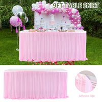 Jupe de table de mariage de la soie de glace pour la décoration de plinthe blanche de la nappe de nappe