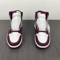 2021 أحذية كرة السلة الرجال أحذية رياضية J1 بوردو 555088-611