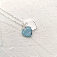 Classic 925 Sterling Silver Necklace Double Heart Pendant women&#39s fashion jewelry original 11 high quality return 210621