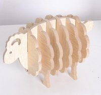 Kleine Schafe hölzerne niedliche Haushaltsartikel Tischset Animal Dekoration Wärmedämmung Pad Matten Pads