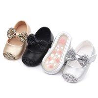 Primeros caminantes Baby Girl Shoes Nacido Comfort Niños Niños Niñas Bowknot Zapato de cuero Softing PRINCESS BEBEK AYAKKABI