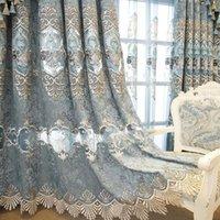 Занавес Drapes Shaper Voile для гостиной вышитый европейский стиль кружева нижний дно из тюль драпировка