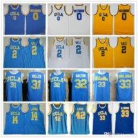NCAA Basketball Jerseys Hommes Ucla Bruins College Russell 0 Westbrook Lonzo 2 Ball Reggie 31 Miller 32 Walton 42 Love Top Qualité